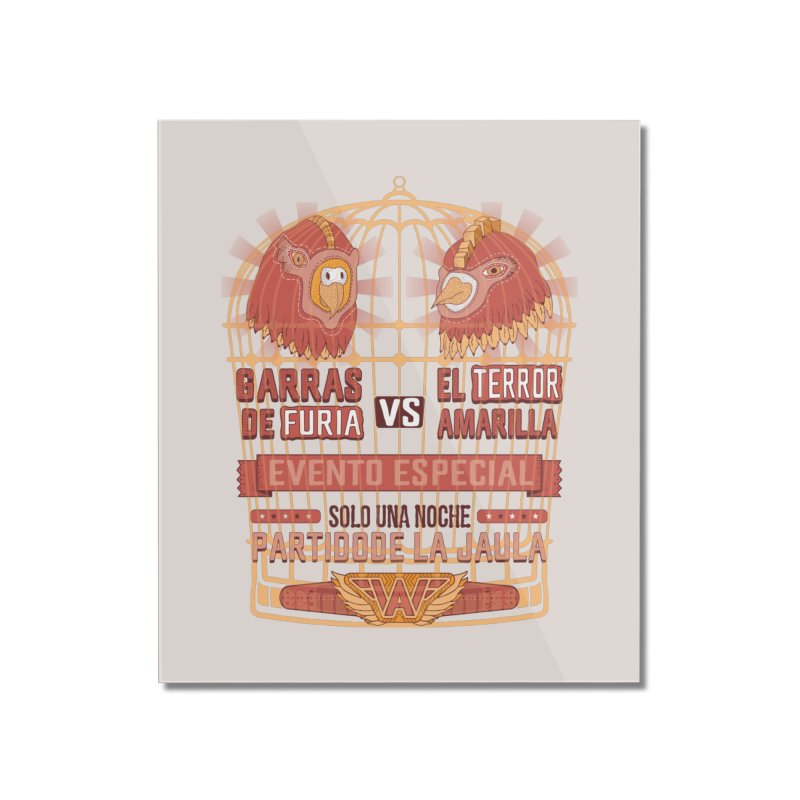 Ultimate Cage Match Home Mounted Acrylic Print by Made With Awesome