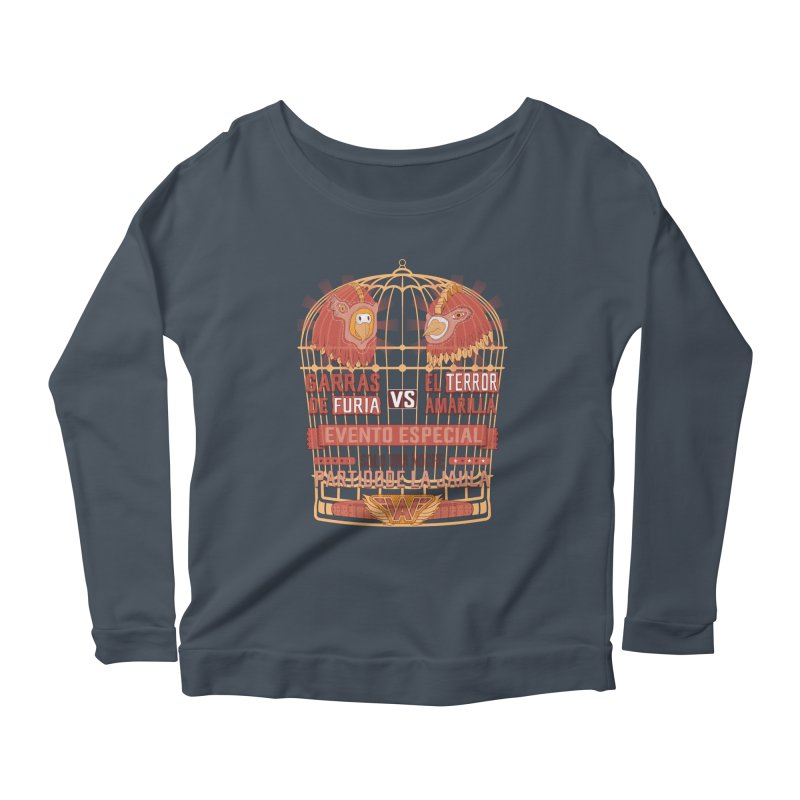 Ultimate Cage Match Women's Longsleeve Scoopneck  by Made With Awesome