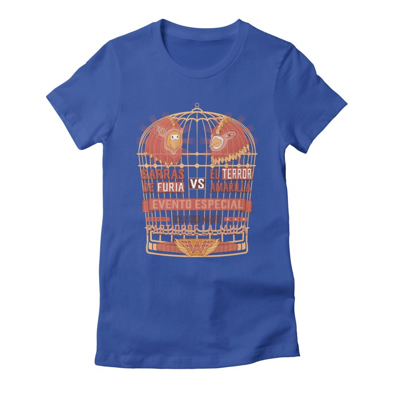 Ultimate Cage Match Women's Fitted T-Shirt by Made With Awesome