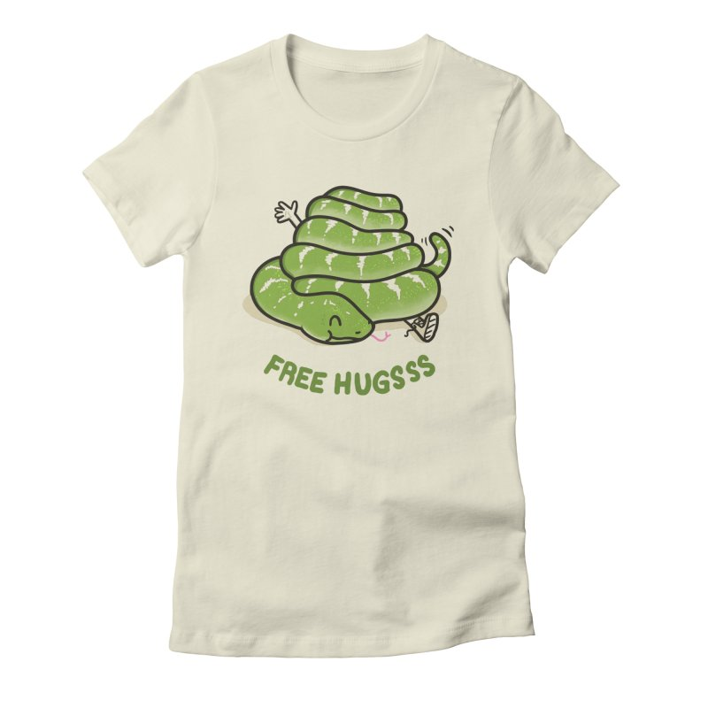 The Big Squeeze in Women's Fitted T-Shirt Natural by Made With Awesome