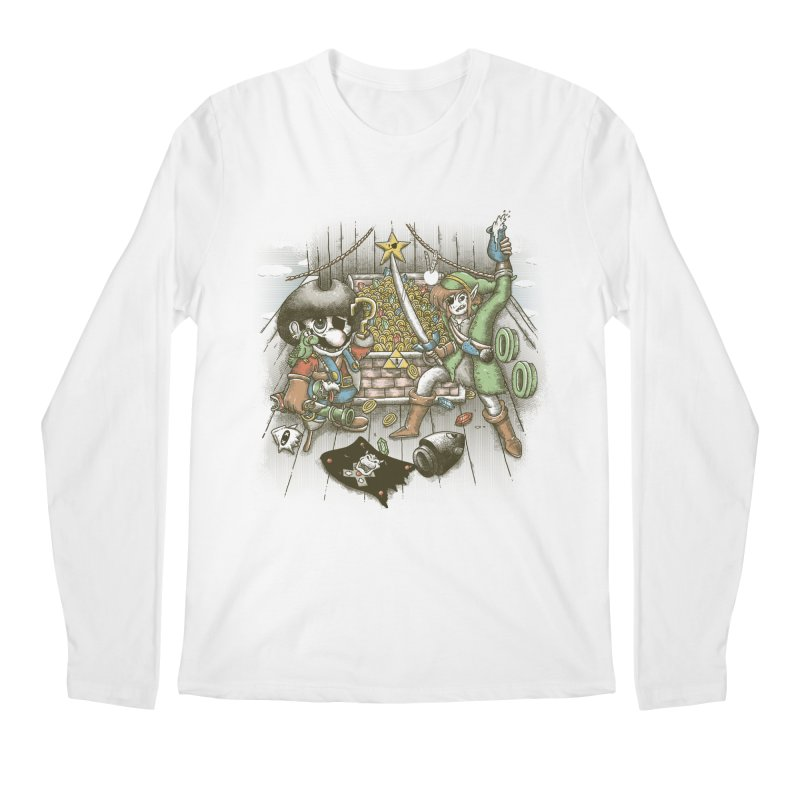 8-Bit Pirates Men's Longsleeve T-Shirt by Made With Awesome
