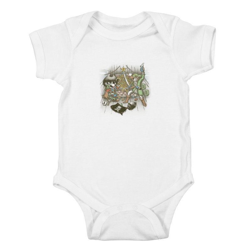 8-Bit Pirates Kids Baby Bodysuit by Made With Awesome