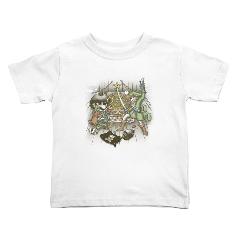 8-Bit Pirates Kids Toddler T-Shirt by Made With Awesome