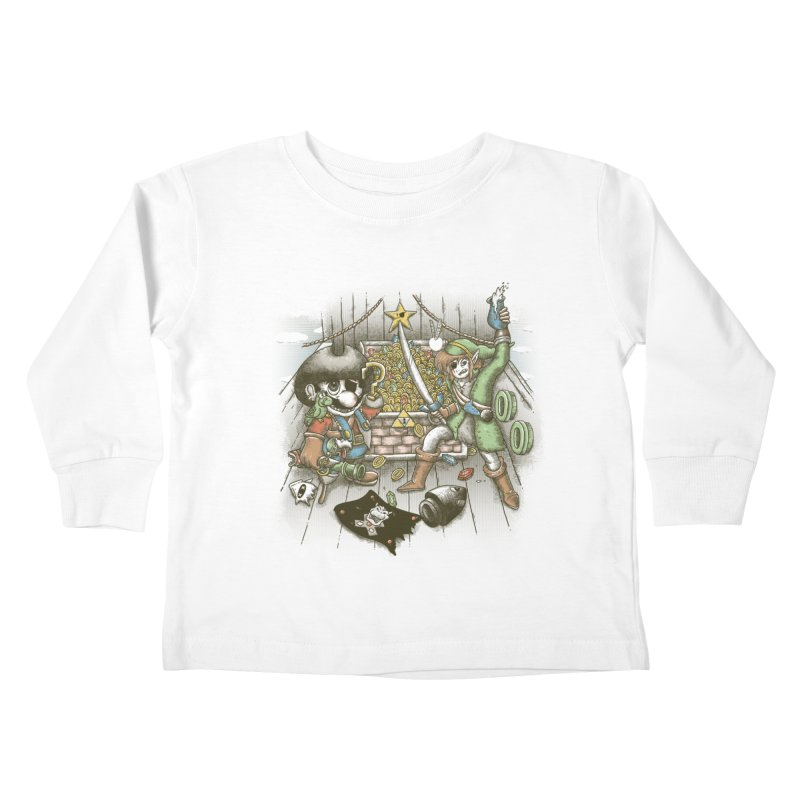 8-Bit Pirates Kids Toddler Longsleeve T-Shirt by Made With Awesome