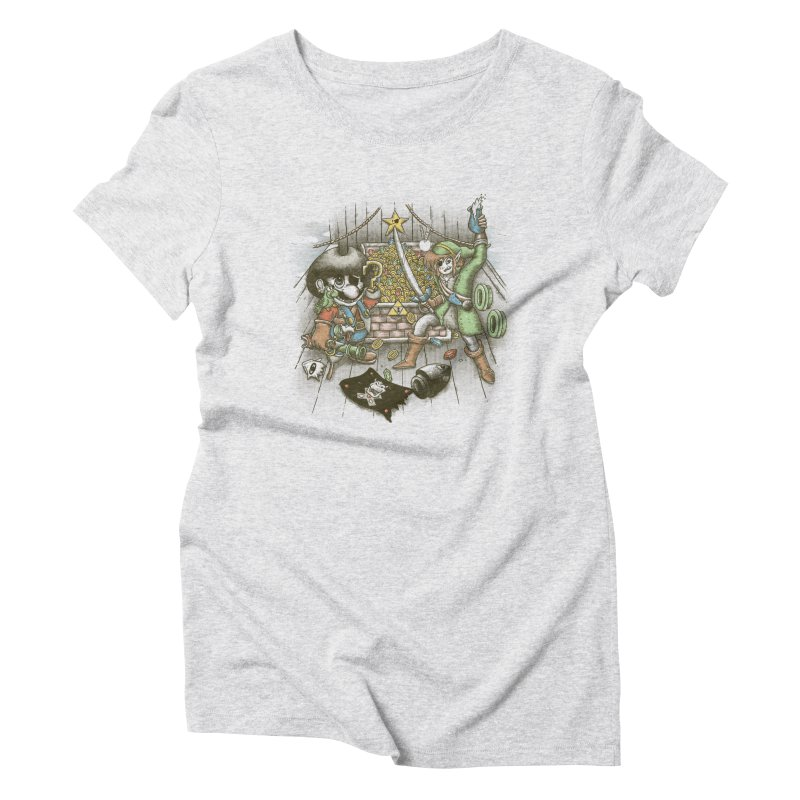 8-Bit Pirates Women's Triblend T-Shirt by Made With Awesome