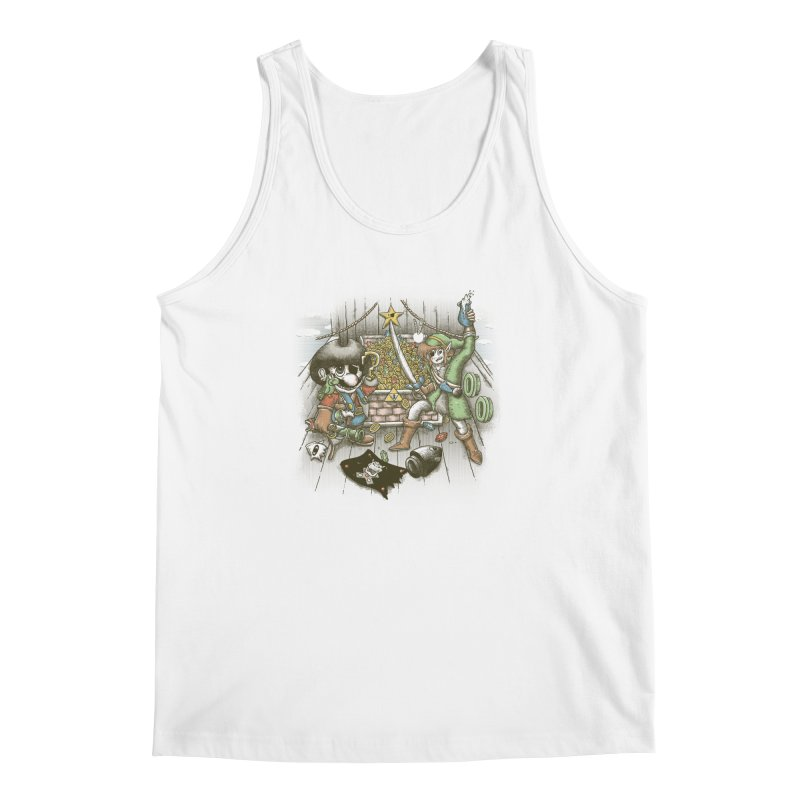 8-Bit Pirates Men's Regular Tank by Made With Awesome