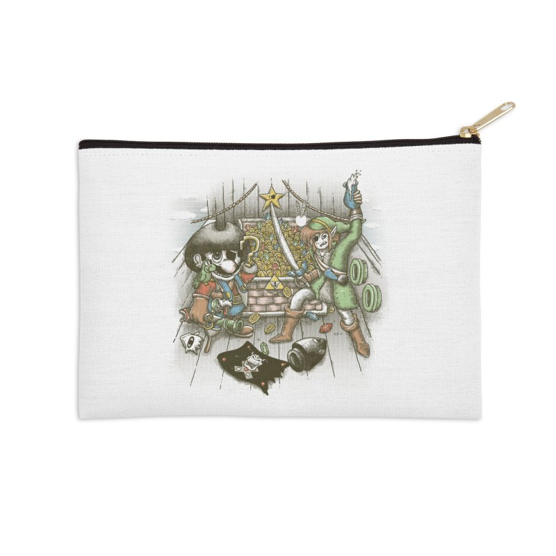 8-Bit Pirates Accessories Zip Pouch by Made With Awesome