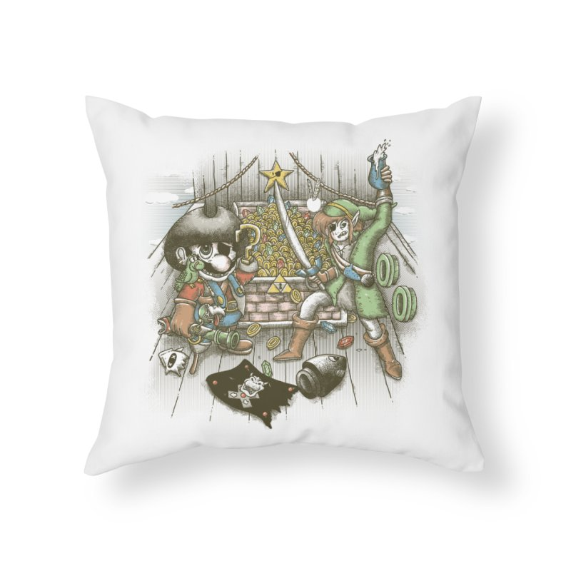 8-Bit Pirates Home Throw Pillow by Made With Awesome