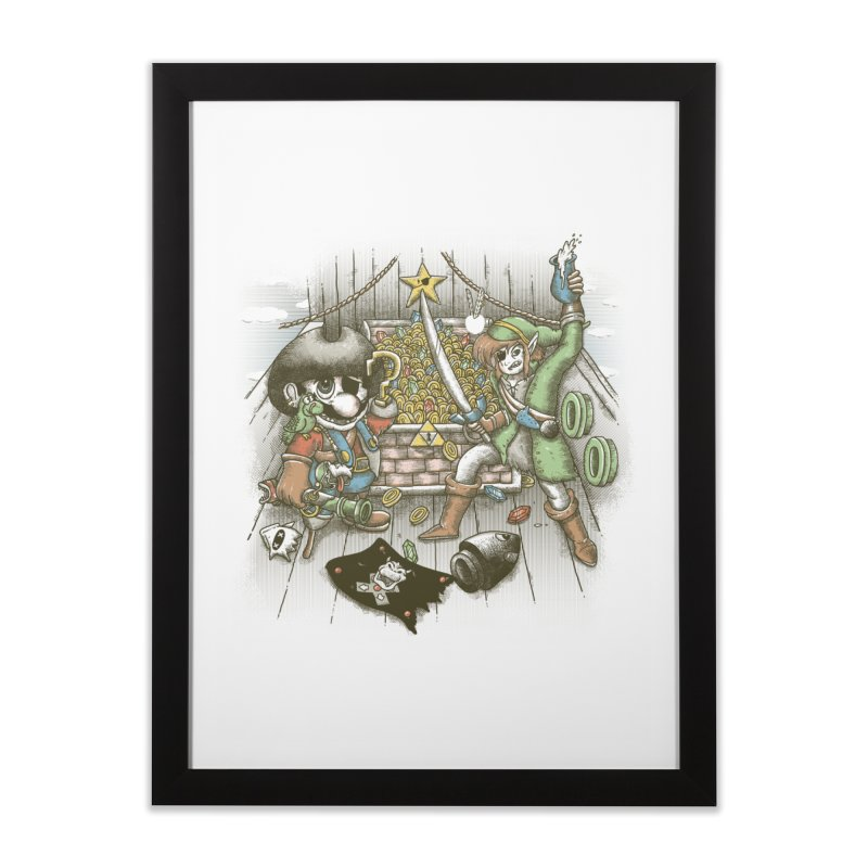 8-Bit Pirates Home Framed Fine Art Print by Made With Awesome