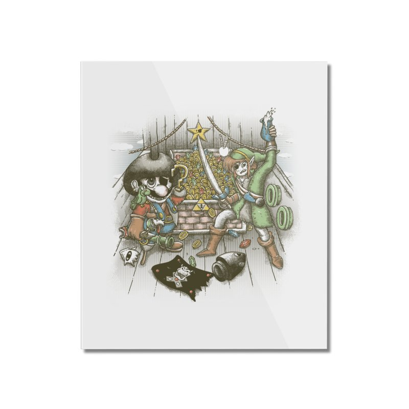8-Bit Pirates Home Mounted Acrylic Print by Made With Awesome