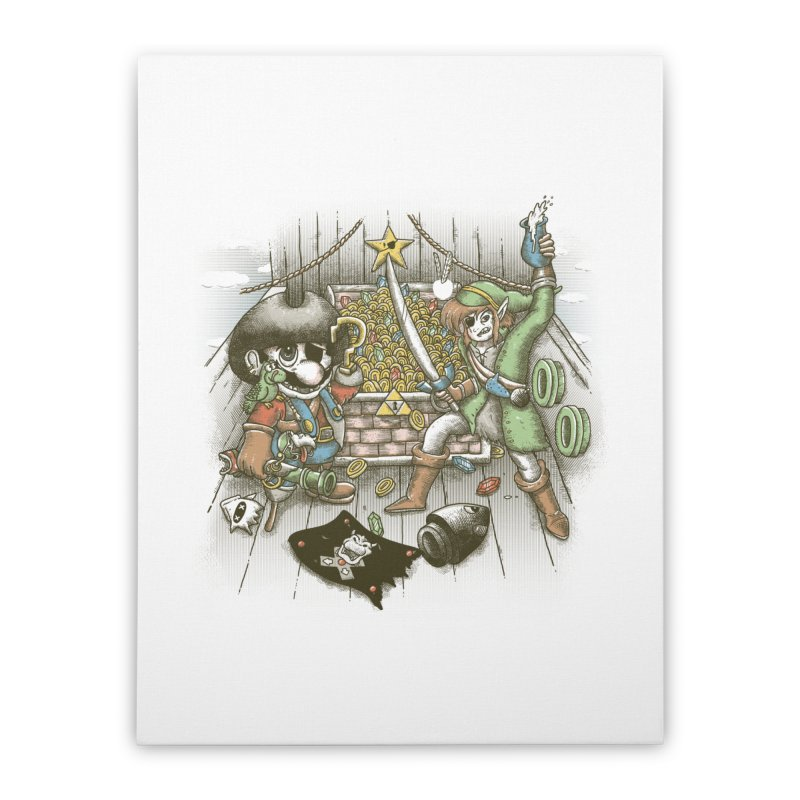 8-Bit Pirates Home Stretched Canvas by Made With Awesome