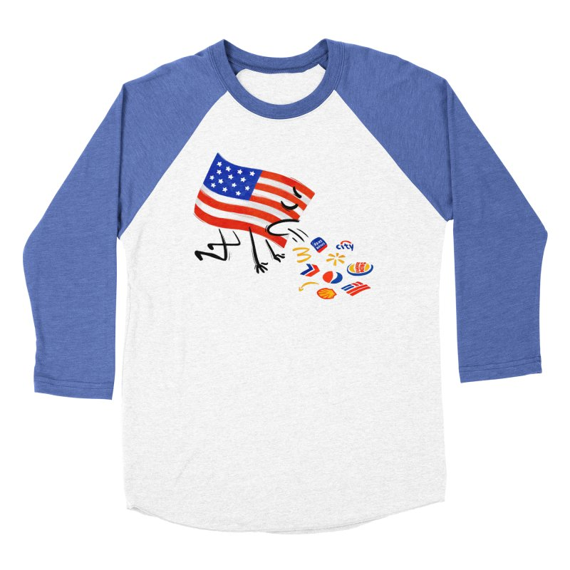 American Sickness Men's Baseball Triblend Longsleeve T-Shirt by Made With Awesome
