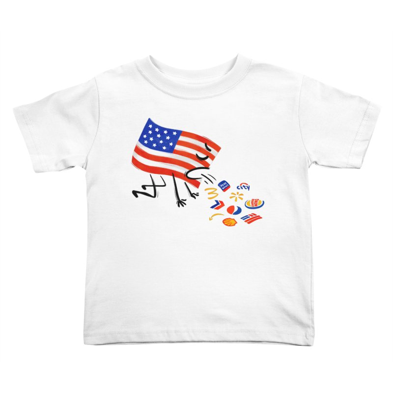 American Sickness Kids Toddler T-Shirt by Made With Awesome