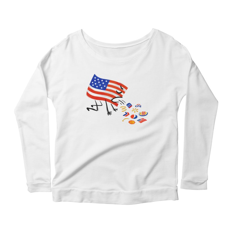 American Sickness Women's Scoop Neck Longsleeve T-Shirt by Made With Awesome