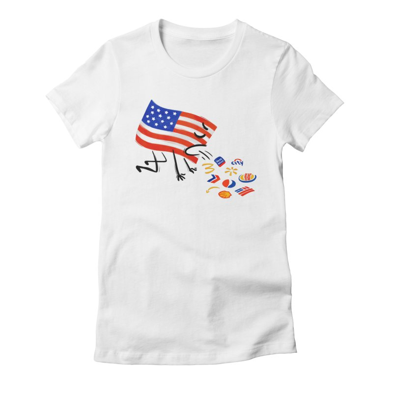 American Sickness Women's Fitted T-Shirt by Made With Awesome