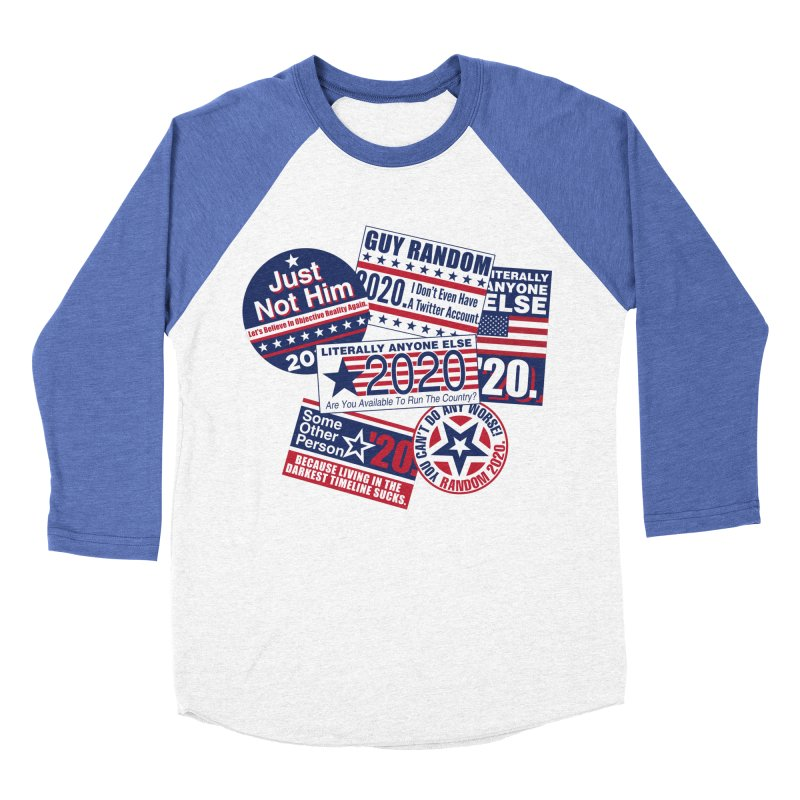 Just Not Him Men's Baseball Triblend Longsleeve T-Shirt by Made With Awesome