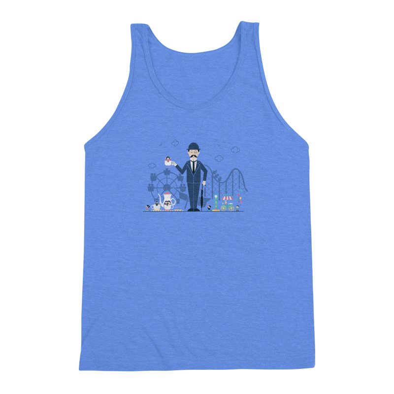 Tea Time at the Faire Men's Triblend Tank by Made With Awesome