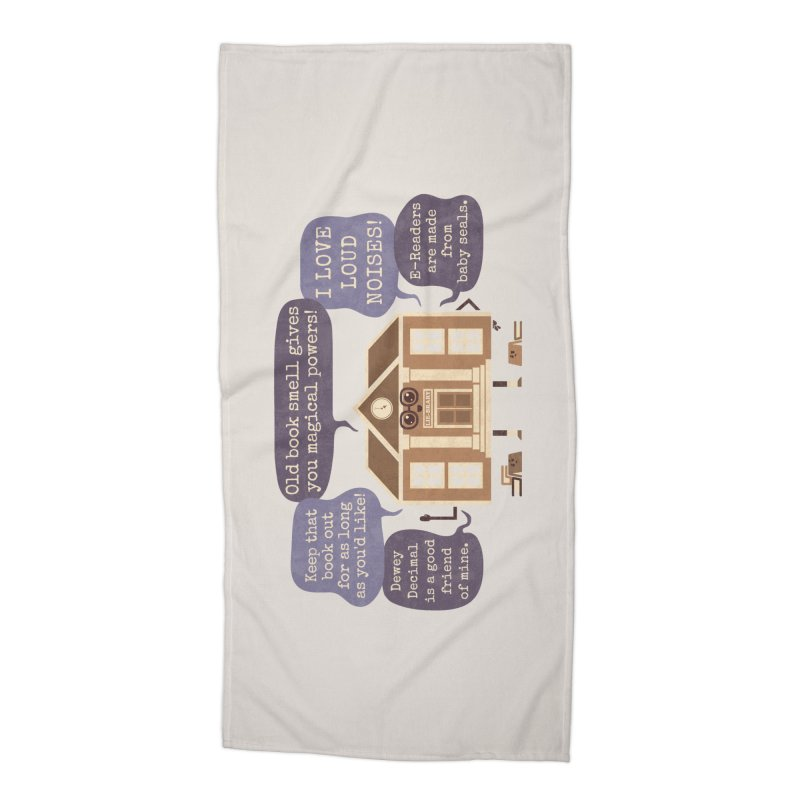 Lie-brary Accessories Beach Towel by Made With Awesome