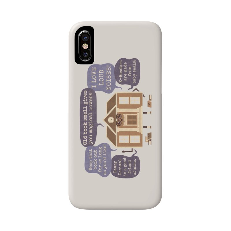 Lie-brary Accessories Phone Case by Made With Awesome