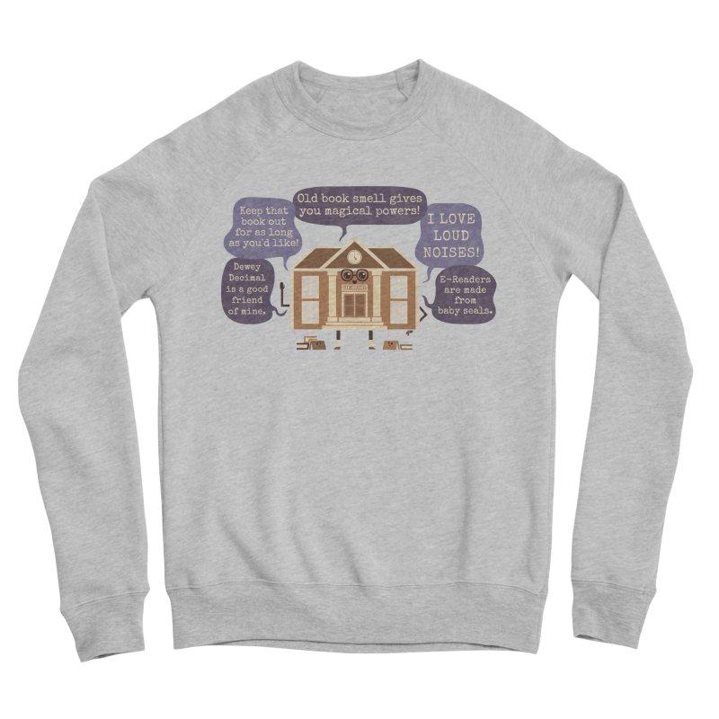 Lie-brary Women's Sponge Fleece Sweatshirt by Made With Awesome
