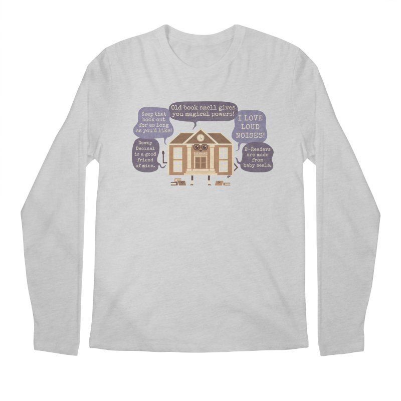 Lie-brary Men's Regular Longsleeve T-Shirt by Made With Awesome