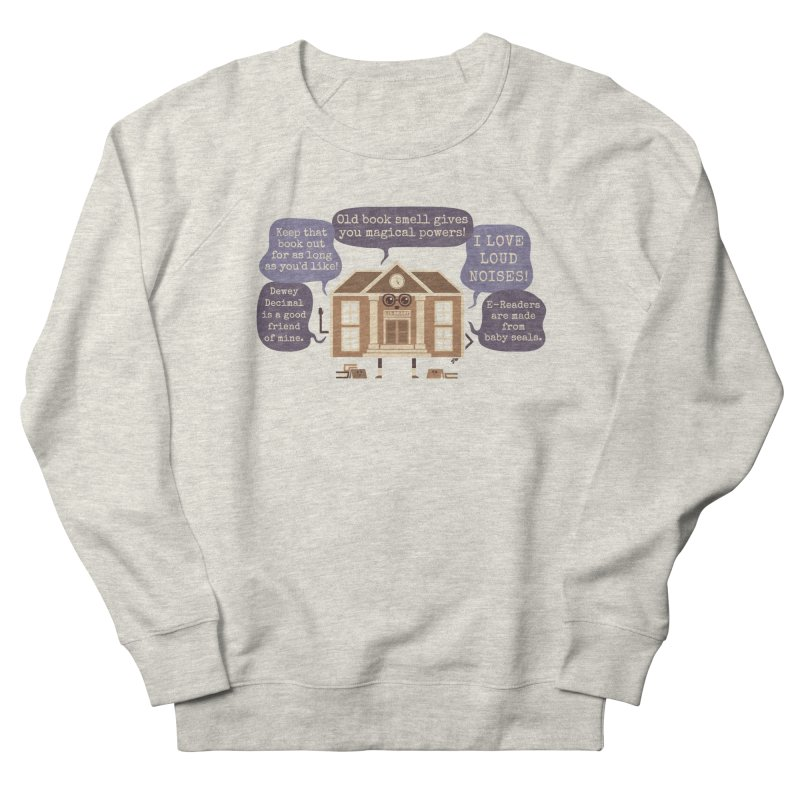 Lie-brary Men's French Terry Sweatshirt by Made With Awesome
