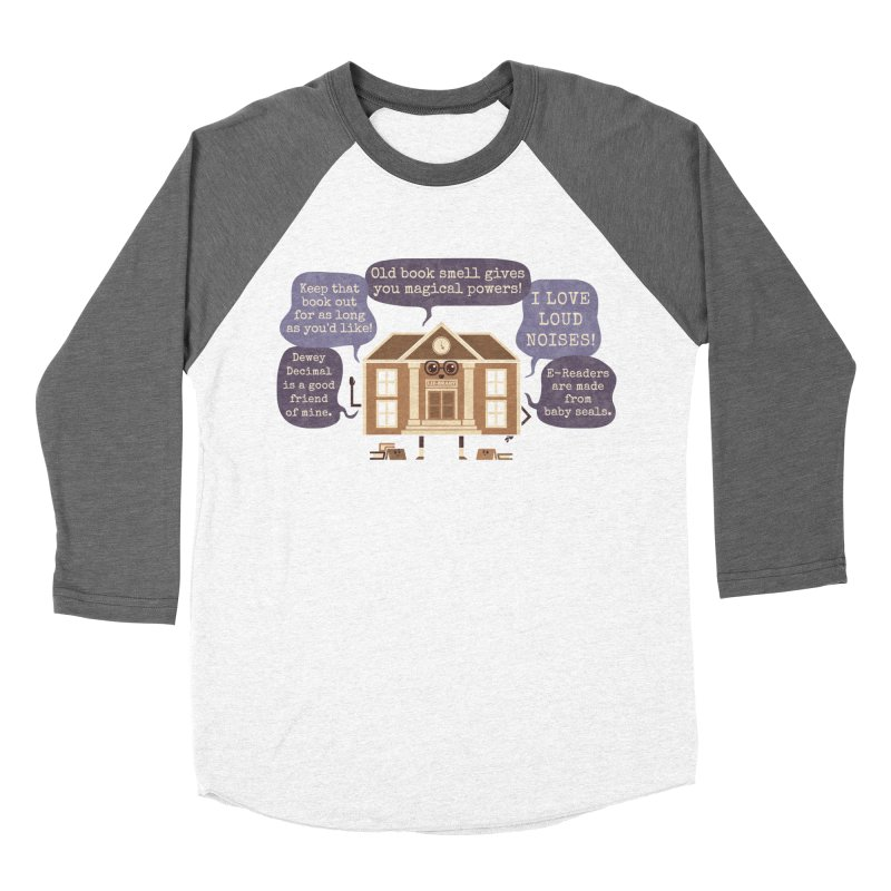Lie-brary Women's Baseball Triblend Longsleeve T-Shirt by Made With Awesome