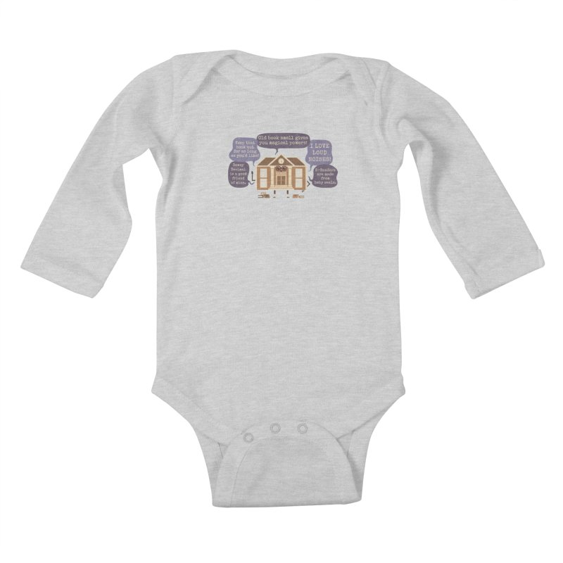 Lie-brary Kids Baby Longsleeve Bodysuit by Made With Awesome