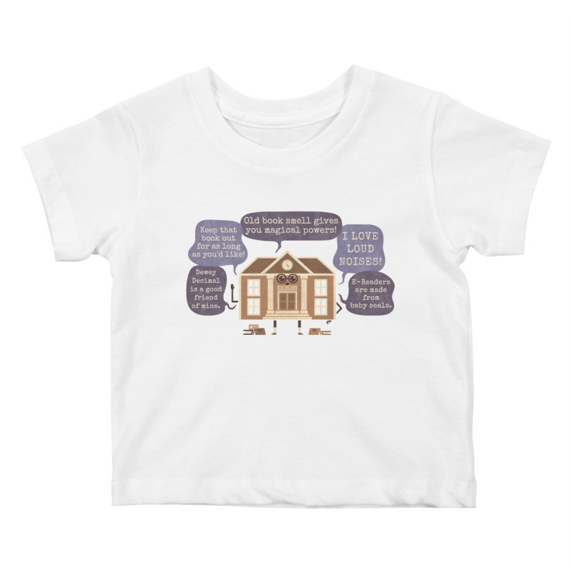Lie-brary Kids Baby T-Shirt by Made With Awesome