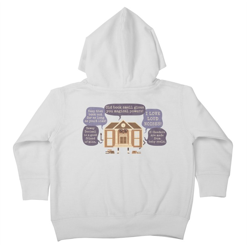 Lie-brary Kids Toddler Zip-Up Hoody by Made With Awesome