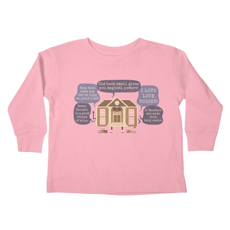 Lie-brary Kids Toddler Longsleeve T-Shirt by Made With Awesome