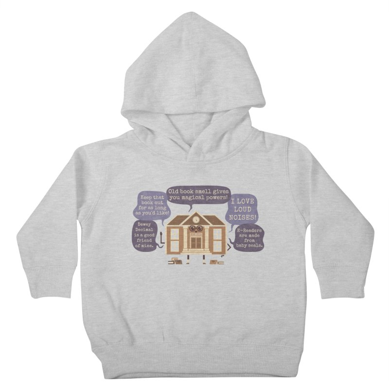 Lie-brary Kids Toddler Pullover Hoody by Made With Awesome