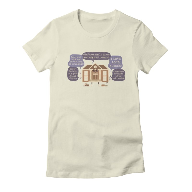 Lie-brary Women's Fitted T-Shirt by Made With Awesome