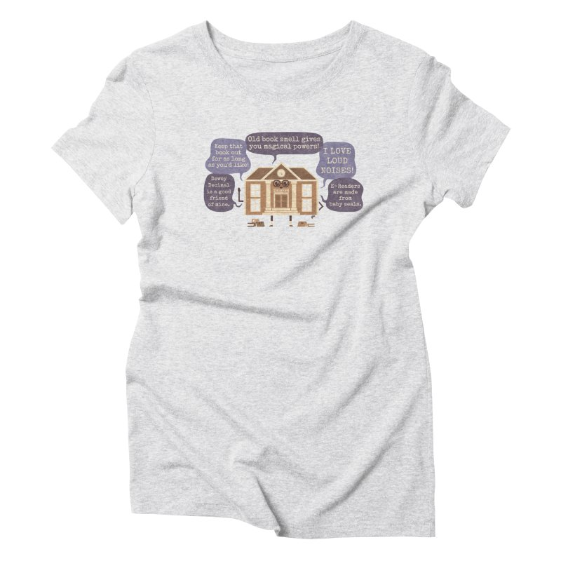 Lie-brary Women's Triblend T-Shirt by Made With Awesome