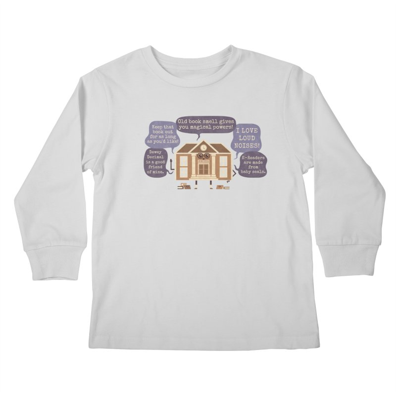 Lie-brary Kids Longsleeve T-Shirt by Made With Awesome
