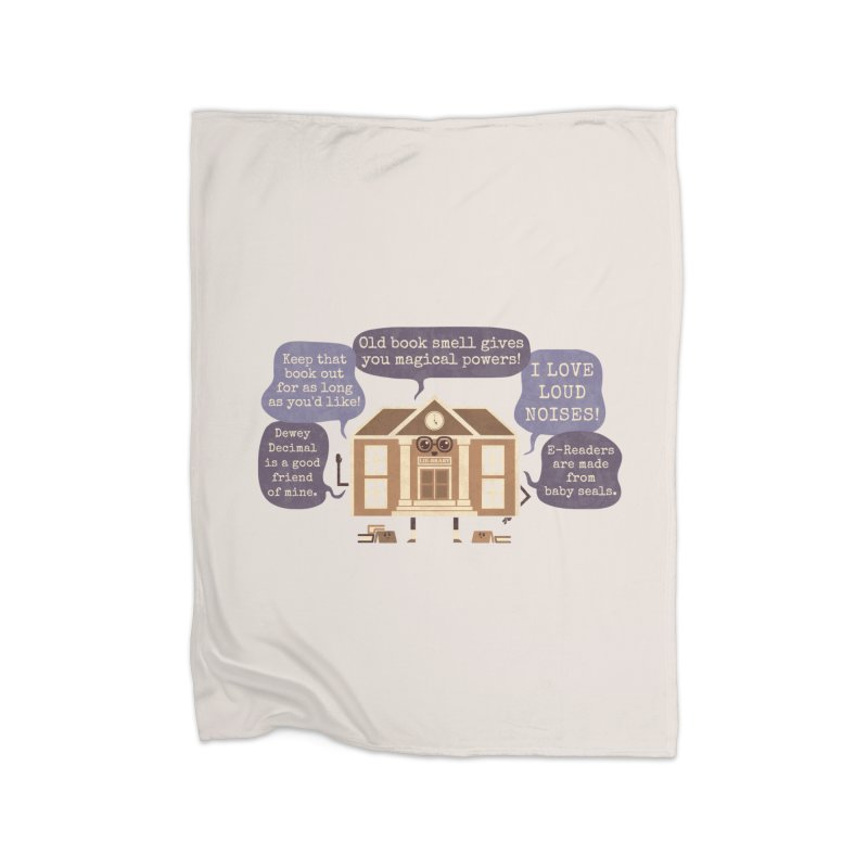 Lie-brary Home Blanket by Made With Awesome