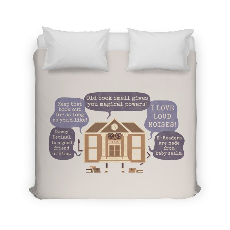 Lie-brary Home Duvet by Made With Awesome
