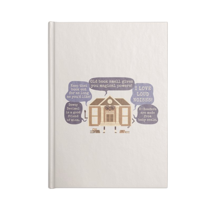 Lie-brary Accessories Notebook by Made With Awesome