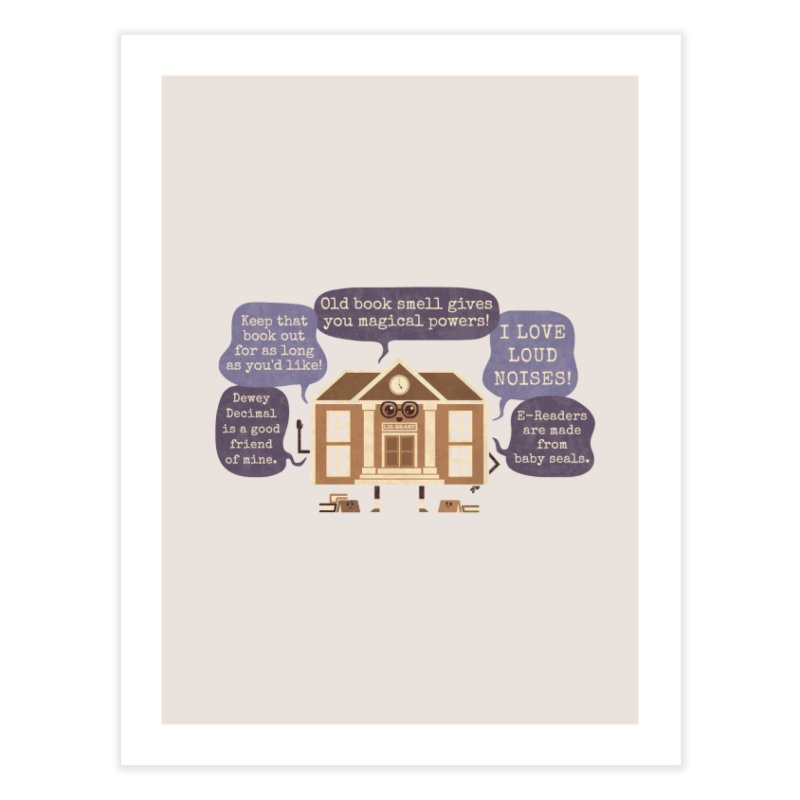 Lie-brary Home Fine Art Print by Made With Awesome