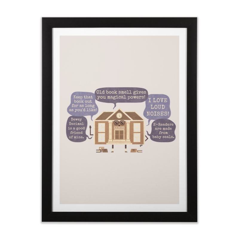 Lie-brary Home Framed Fine Art Print by Made With Awesome