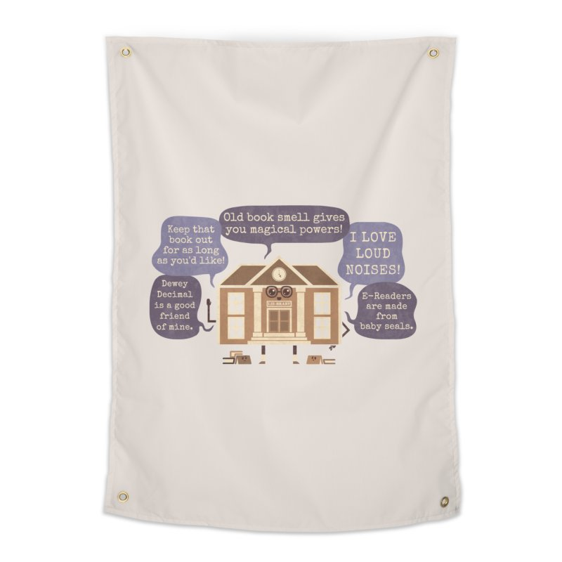 Lie-brary Home Tapestry by Made With Awesome