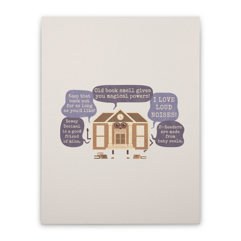 Lie-brary Home Stretched Canvas by Made With Awesome