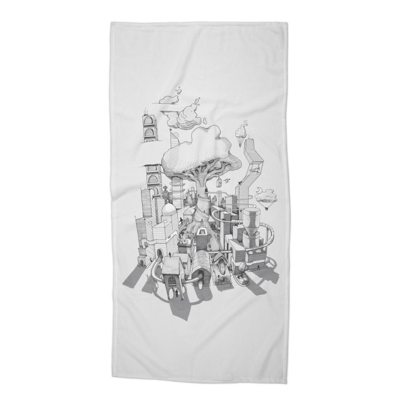 Impossible City Accessories Beach Towel by Made With Awesome