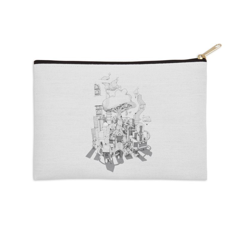 Impossible City Accessories Zip Pouch by Made With Awesome