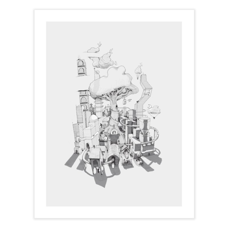 Impossible City Home Fine Art Print by Made With Awesome