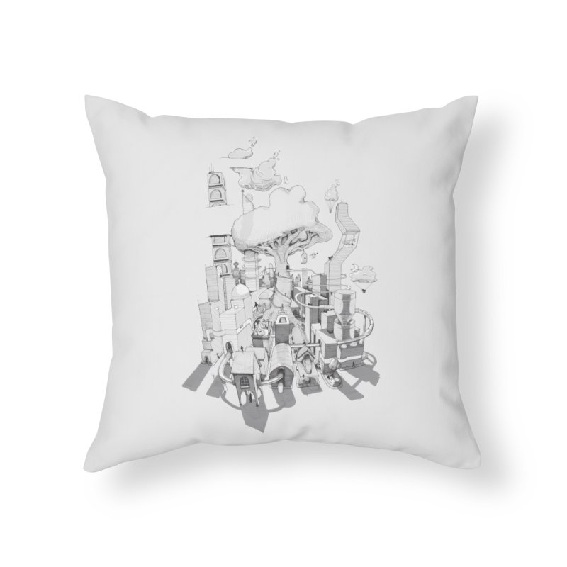 Impossible City Home Throw Pillow by Made With Awesome