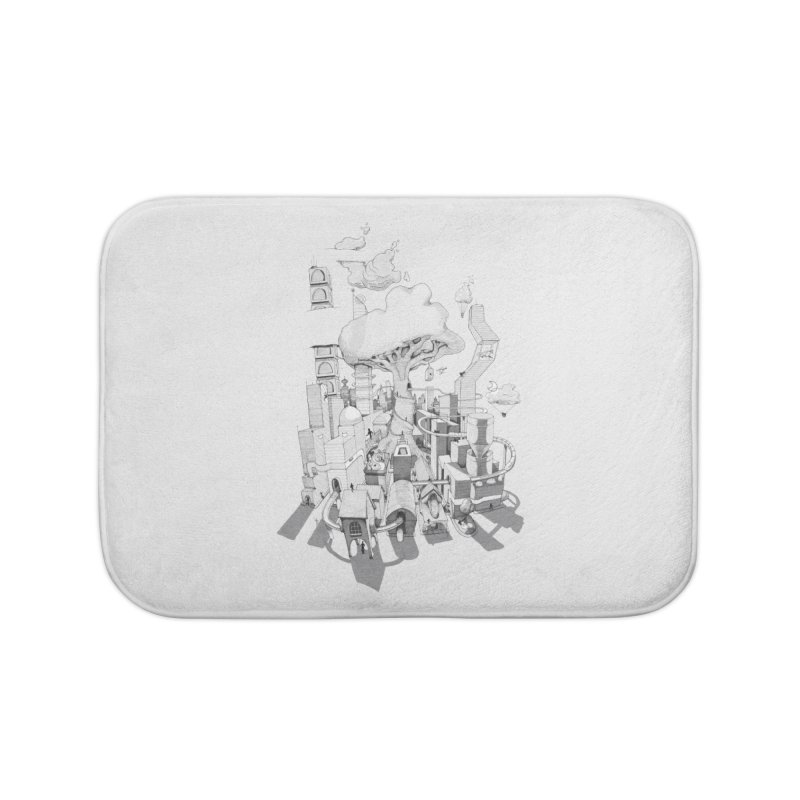 Impossible City Home Bath Mat by Made With Awesome