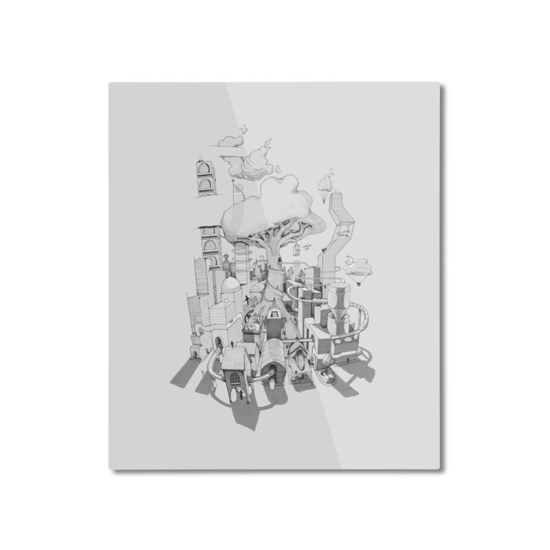 Impossible City Home Mounted Aluminum Print by Made With Awesome