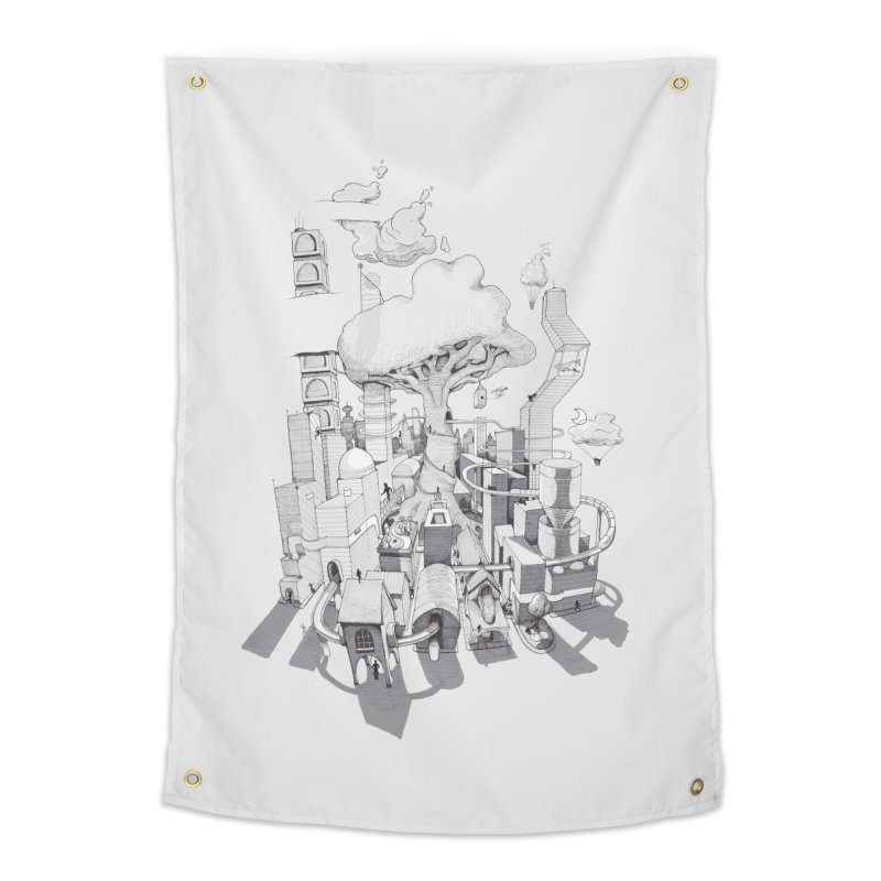 Impossible City Home Tapestry by Made With Awesome