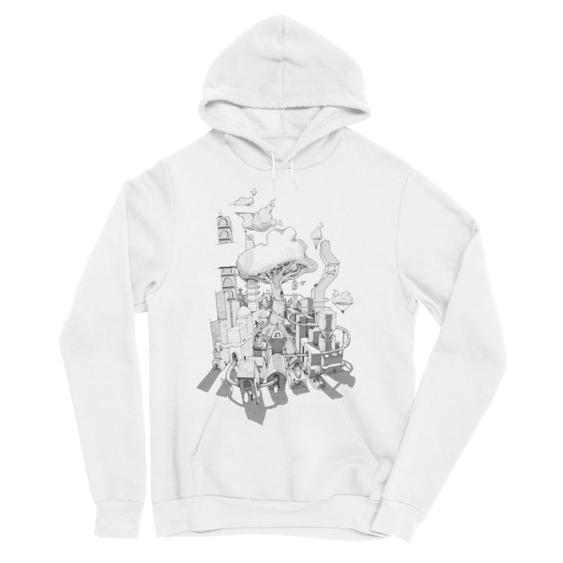 Impossible City Men's Sponge Fleece Pullover Hoody by Made With Awesome